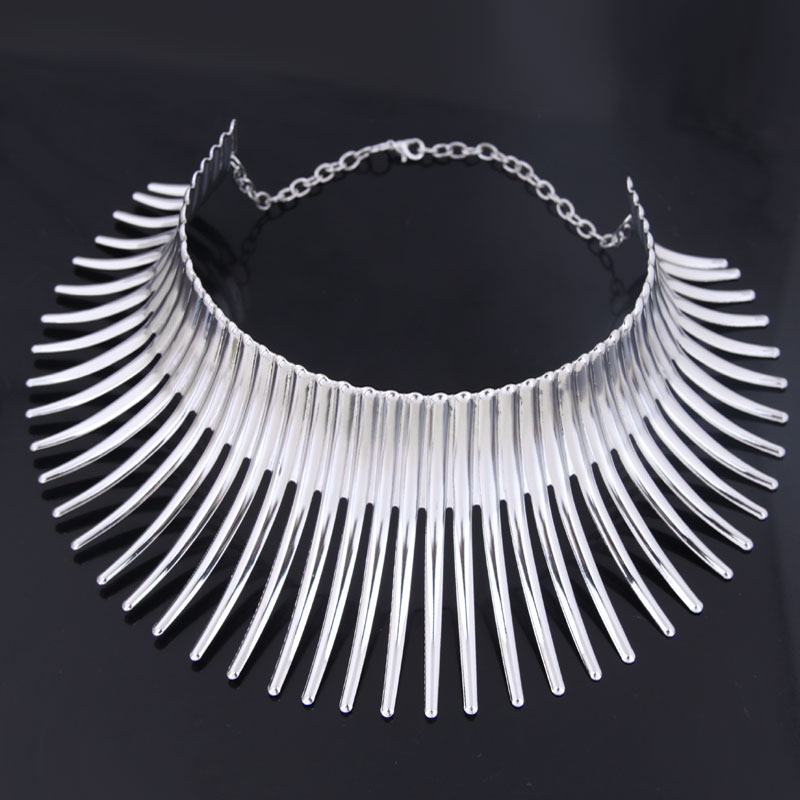 European and American fashion metal crazy battle hedgehog modeling personality exaggerated collar necklace NHSC189620