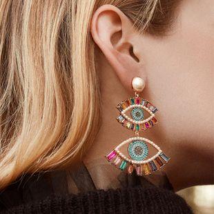 Alloy Diamond Eye Earrings Bohemia New Fashion Earrings Accessories Jewelry NHJQ191305's discount tags
