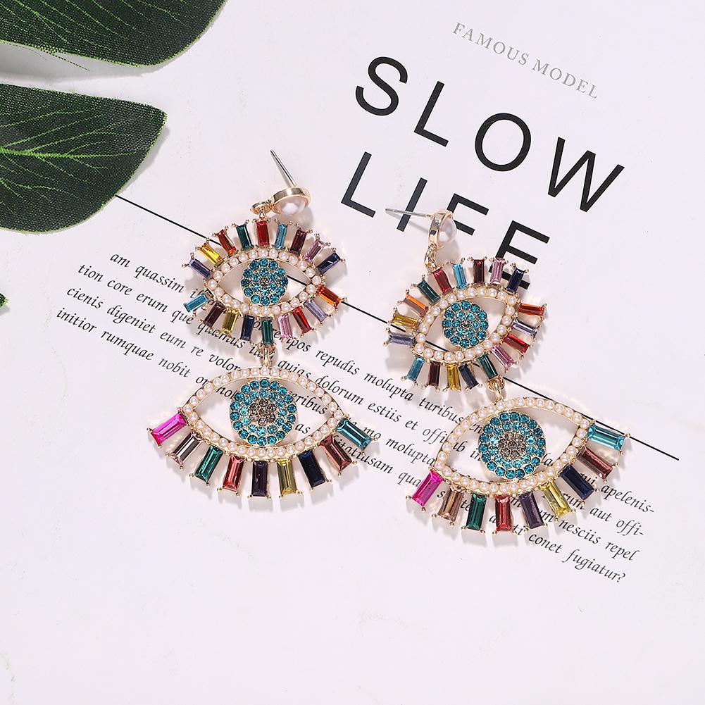 Alloy Diamond Eye Earrings Bohemia New Fashion Earrings Accessories Jewelry NHJQ191305