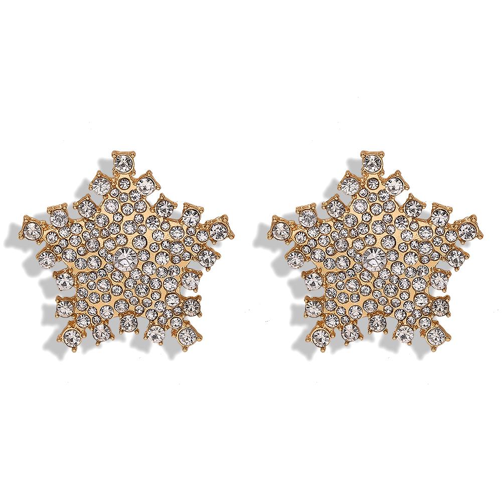 New alloy diamond earrings simple earrings fashion earring accessories NHJQ191303