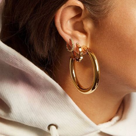 Alloy Geometric Earrings Simple Earring Accessories Korean New Ornaments NHJQ191299's discount tags