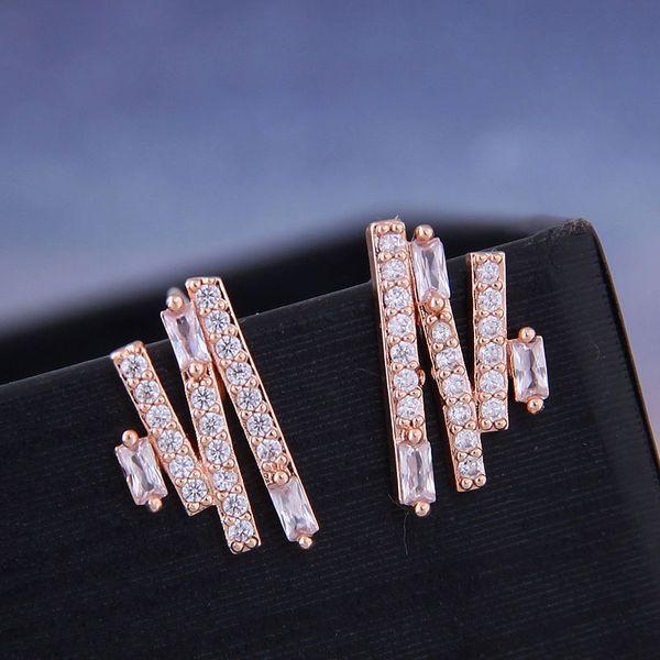 925 silver Korean fashion sweet OL copper micro inlaid zircon earrings NHSC191289