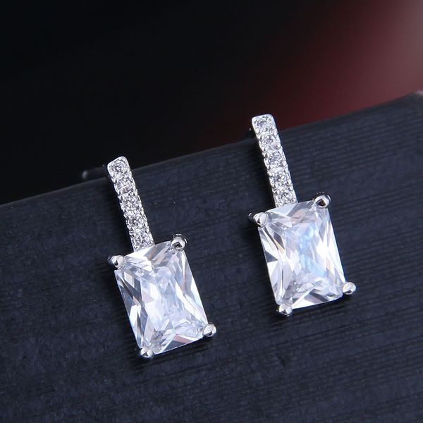 Korean Fashion Sweet OL Sheep Star Studded Simple Zirconium Earrings NHSC191263