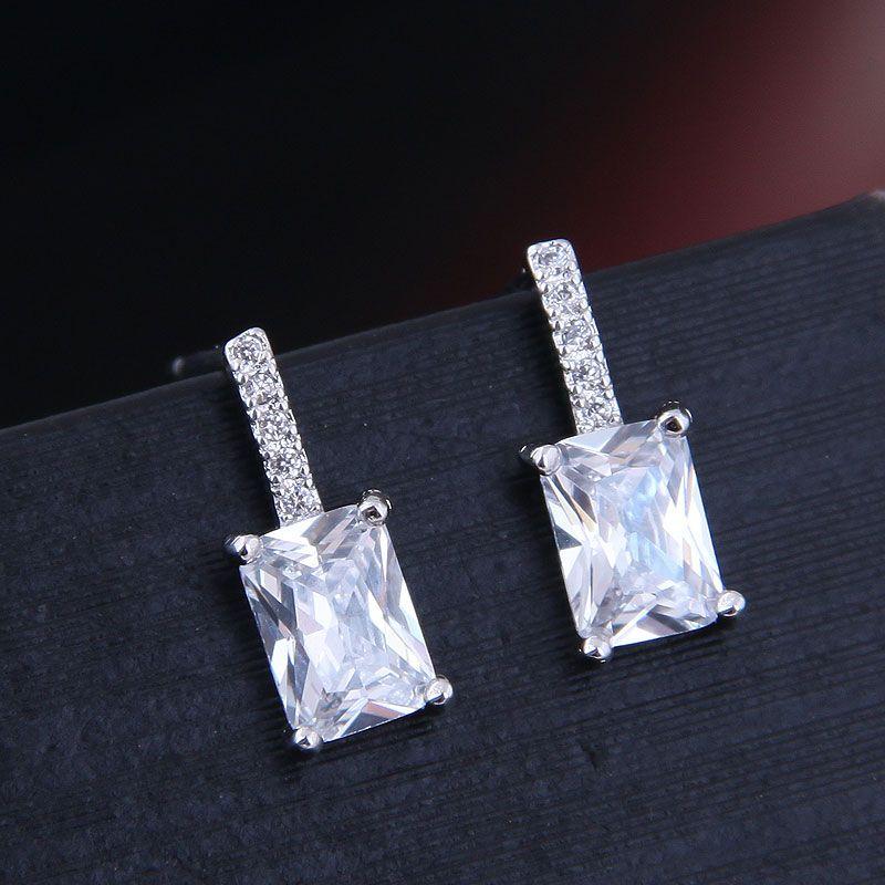 Korean Fashion Sweet OL Sheep Star Studded Simple Zirconium Earrings NHSC191263