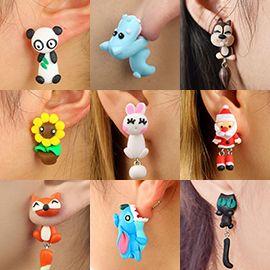 Animal Clay Earrings