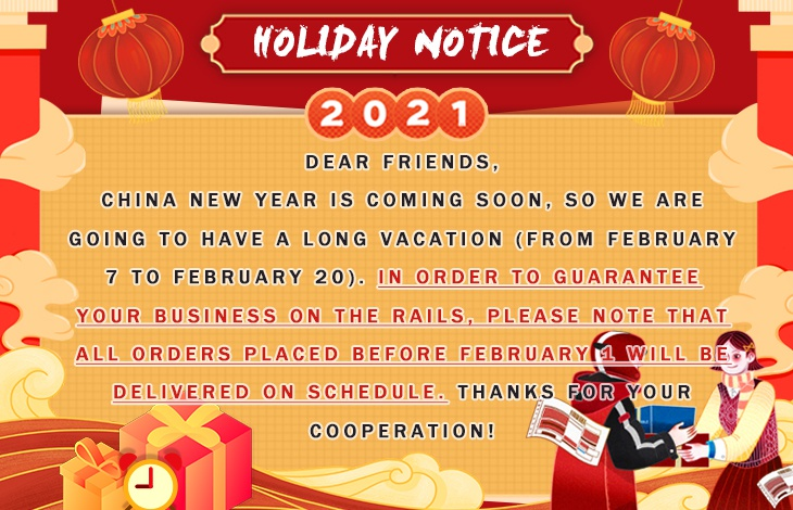 New Year Notice