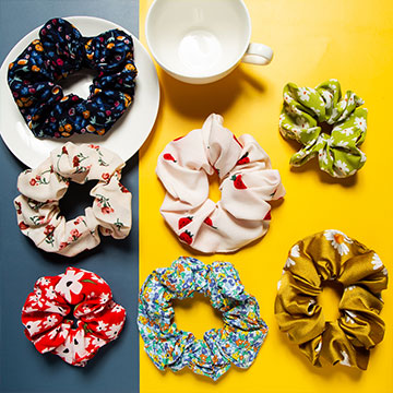 Fashion Hair Scrunchies