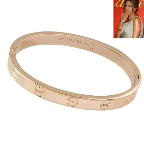 EXQUISITE alloy rose alloy LOVE series forever ring bangle 212047