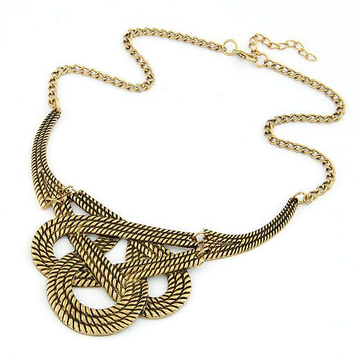 Occident fashion classic weave necklace 211942