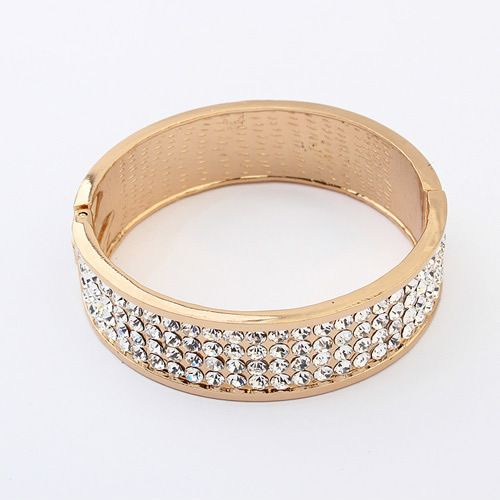 Occident luxury white rhinestone bangle 799828