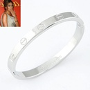 EXQUISITE alloy rose alloy LOVE series forever ring bangle  alloy  212046