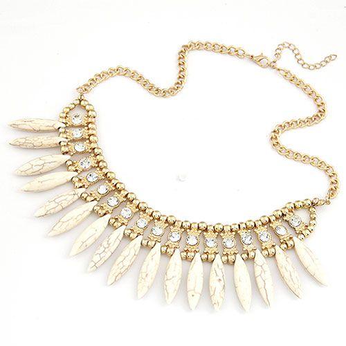 Occident fashion  metal boast  Bohemian temperament short necklace droplets 209792