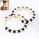 Easy match big hoop Beads ear hoops 212921