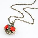 Occident fashion gem embedded Incense burner unique long necklace 212309