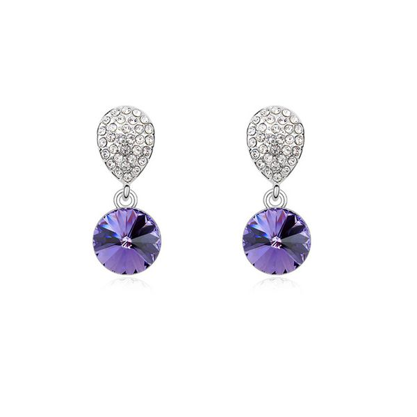 Austrian imitated crystal earrings - Love confession ( Tanzanite ) 11712