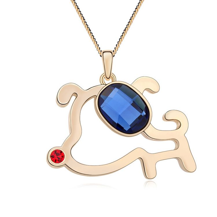 Alloy - Q- puppy boutique sweater chain ( Blue ink + Champagne Alloy ) 11667