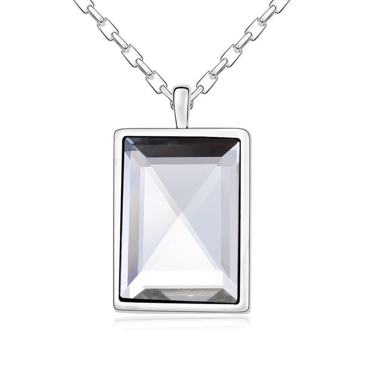 Alloy - Intimate affection necklaces ( White ) 11652