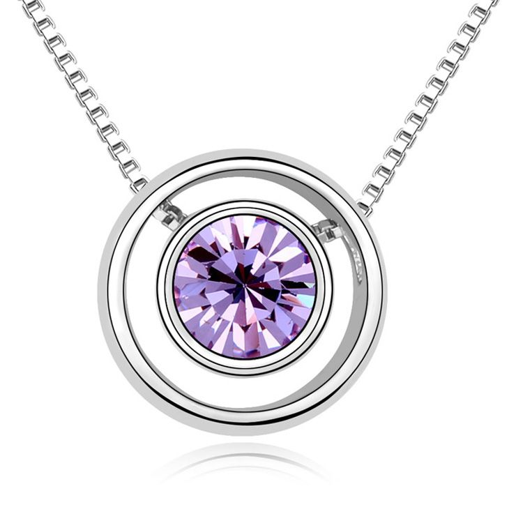 Austrian imitated crystal necklace - Something Astral ( Violet ) 11602