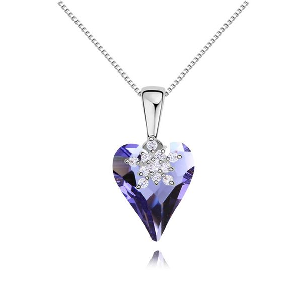 Austrian imitated crystal necklace - Heartstrings of dance ( Tanzanite ) 11554