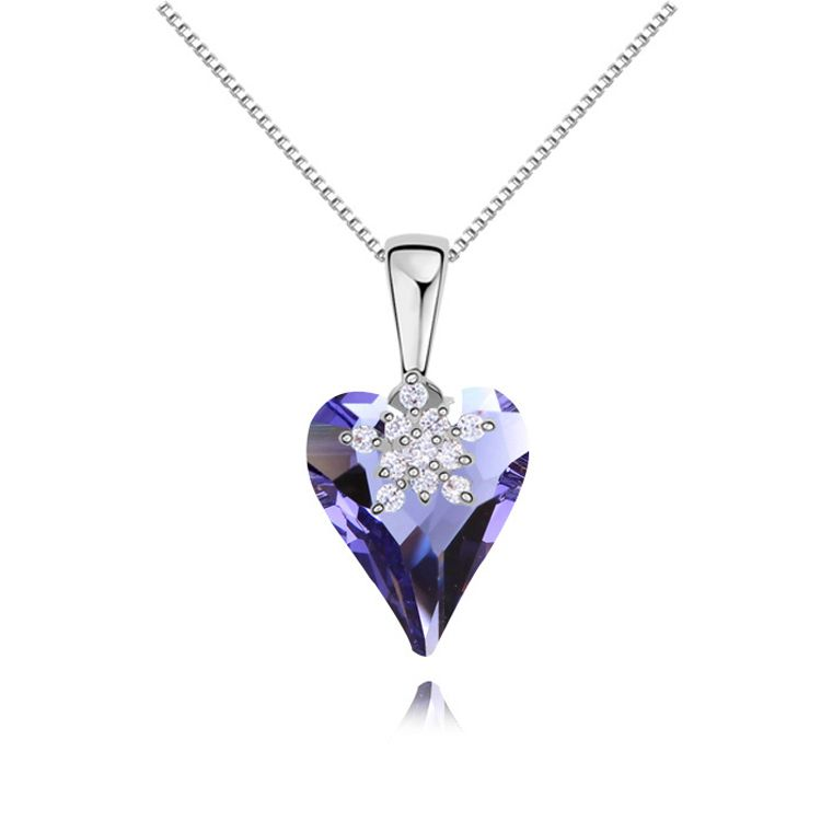 Austrian imitated crystal necklace  Heartstrings of dance  Tanzanite  11554