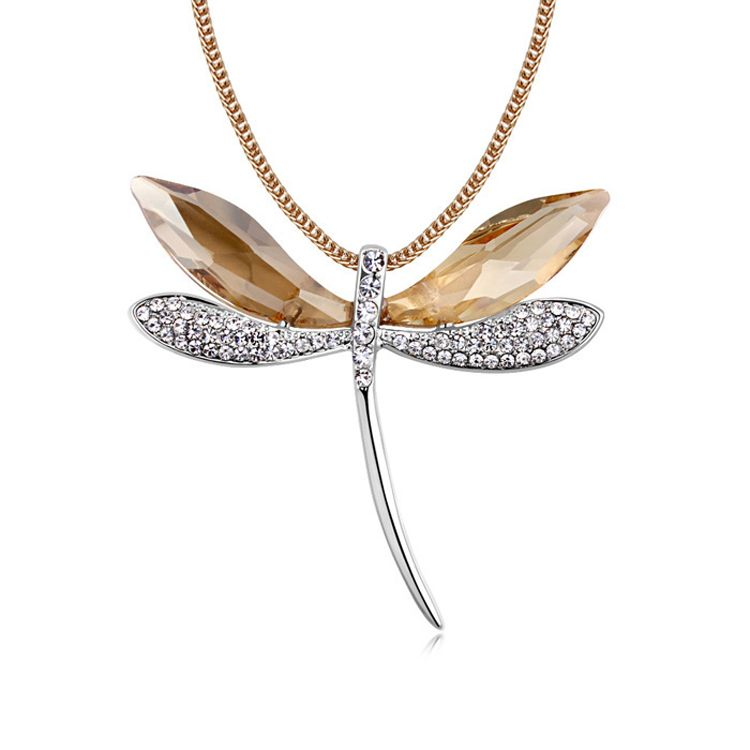 Austrian imitated crystal sweater chain - Dragonfly ( Alloy Shadow ) 11523