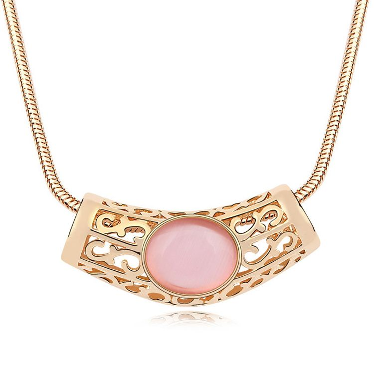 Alloy - Month Long Bay opal sweater chain ( Light + Champagne Alloy ) 11441