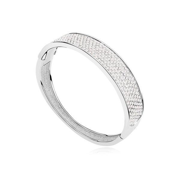 Austrian imitated crystal bracelet - Mocha Love ( White ) 11429