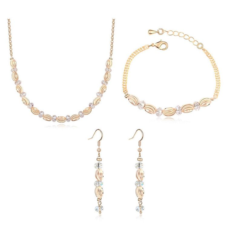 Austrian Imitated crystal Set - Endless Love ( Alloy Shade + Champagne Alloy ) 11395