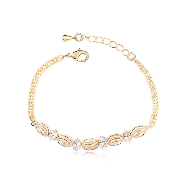 Austrian imitated crystal bracelet - Endless Love ( Alloy Shade + Champagne Alloy ) 11392