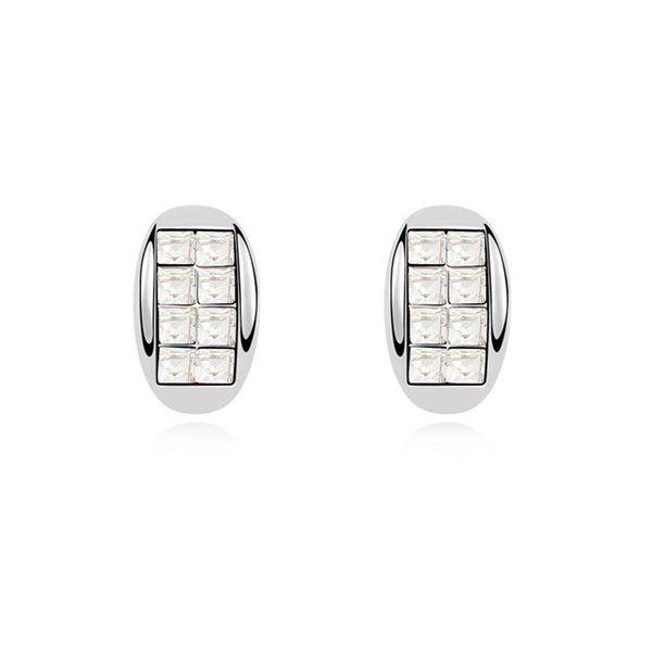 Austrian imitated crystal earrings - Gentleman a promise ( White ) 10925
