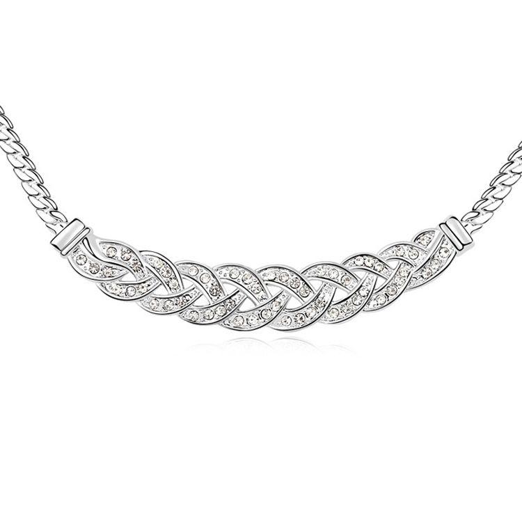Austrian imitated crystal necklace - Waltz ( White ) 10883