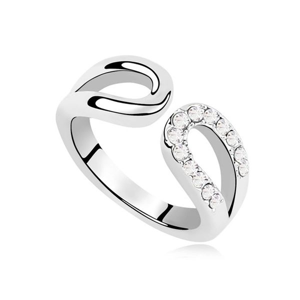 Austrian Imitated crystal Ring - Track meet ( White ) 10833