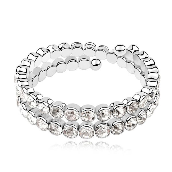 Austrian imitated crystal bracelet - Flawless beauty ( White ) 10367