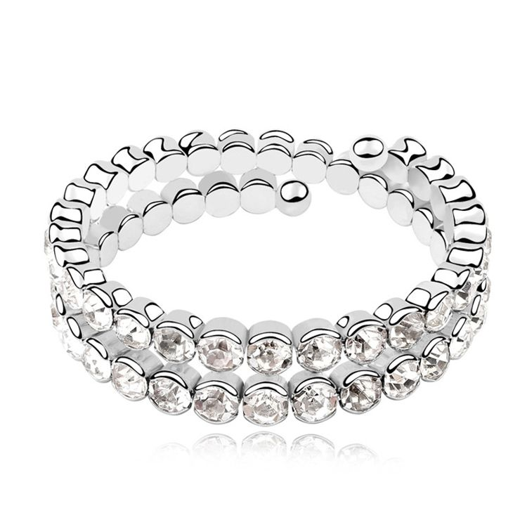 Austrian imitated crystal bracelet - Flawless beauty ( White ) 10367
