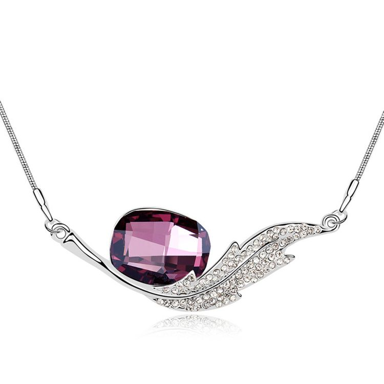 Austrian imitated crystal necklace  Exclusive Angel  Purple  10336