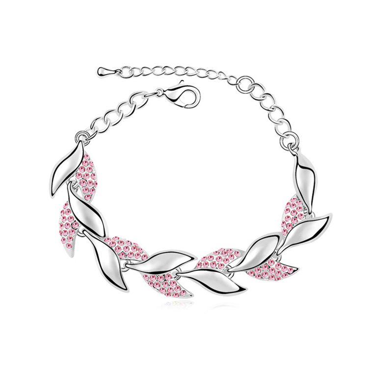 Austrian imitated crystal bracelet - If Liu Fufeng ( Light Rose ) 10243
