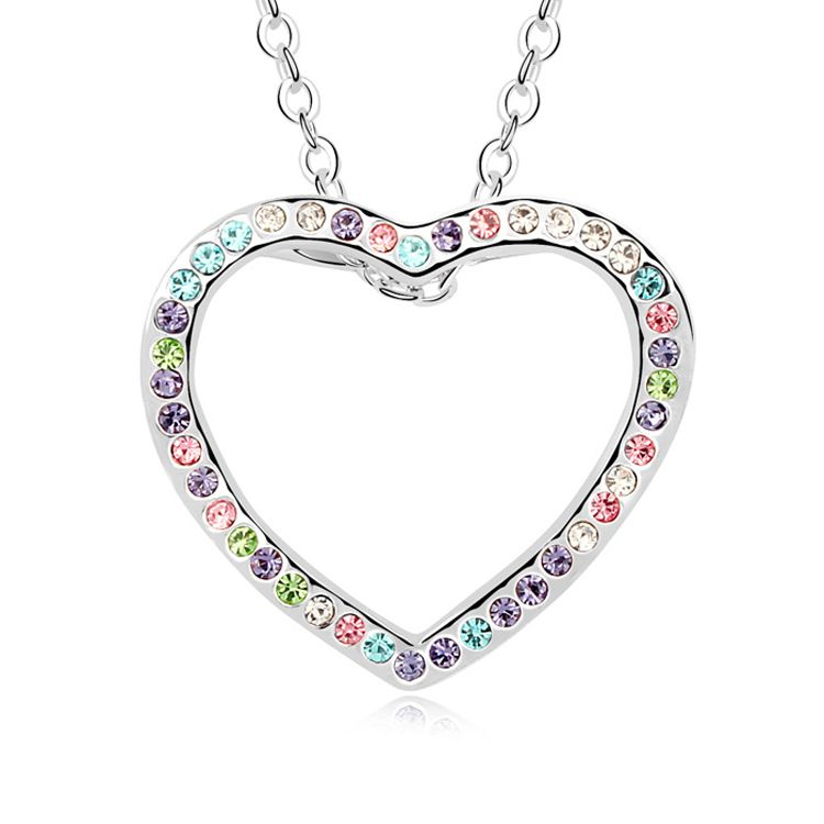 Austrian imitated crystal necklace  Love blossoms move  Color  10232