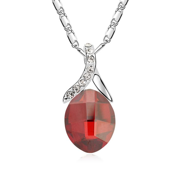 Austrian imitated crystal necklace  Romantic fantasy  Imitated crystal Red Rock  10202