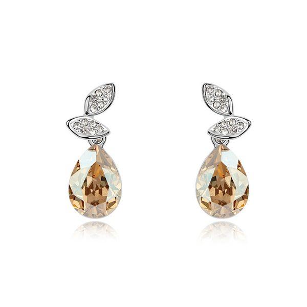 Austrian imitated crystal earrings - Rotation happiness ( Alloy Shadow ) 9976