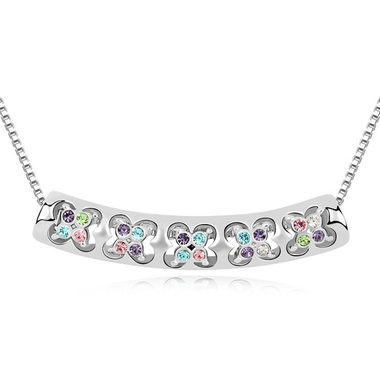 Austrian imitated crystal necklace - Baroque Dance ( Color ) 9911