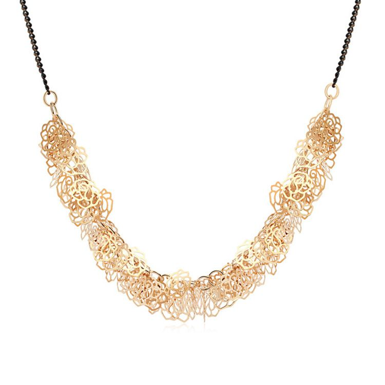 Alloy - Rose Xinyu necklaces ( Champagne Alloy ) 9755