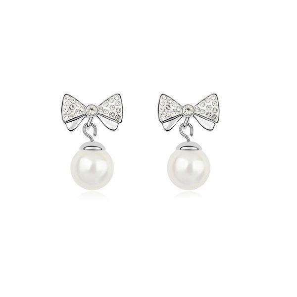 Austria Beads Earring - Dream fall youth ( White ) 9719
