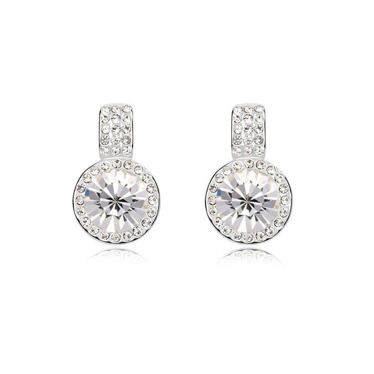 Austrian imitated crystal earrings - Fantasia ( White ) 9539