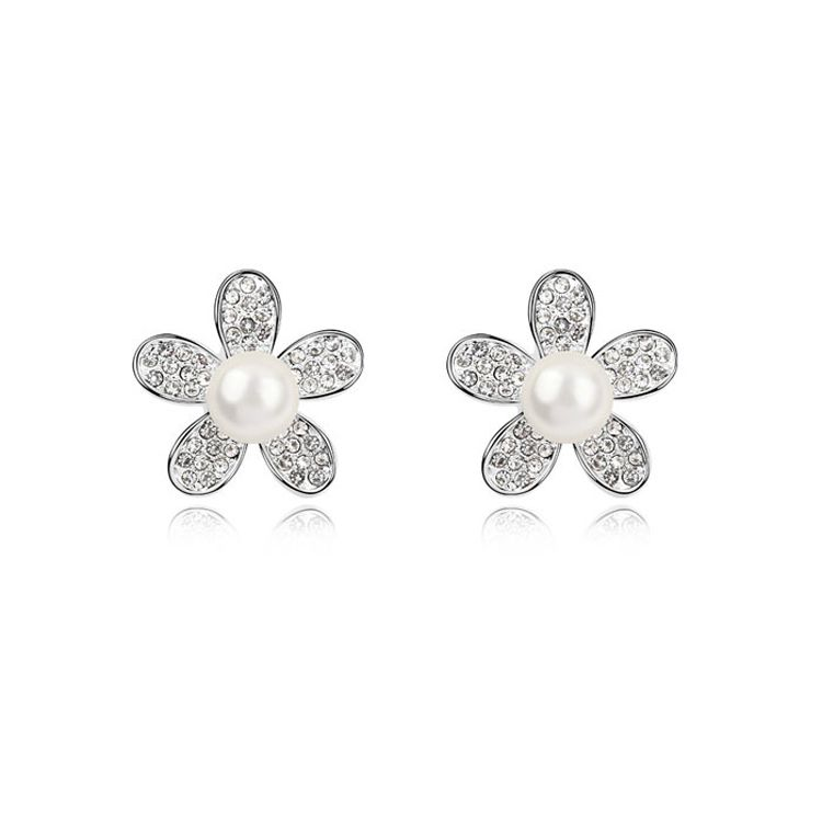 Austria beads earrings - Fireworks Romance ( White ) 9490