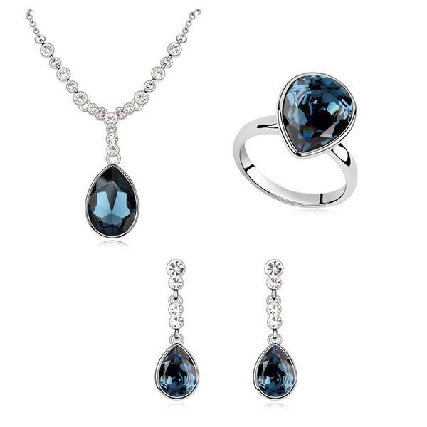 Austrian Imitated crystal Set - Rouge Tears ( Blue ink ) 9318