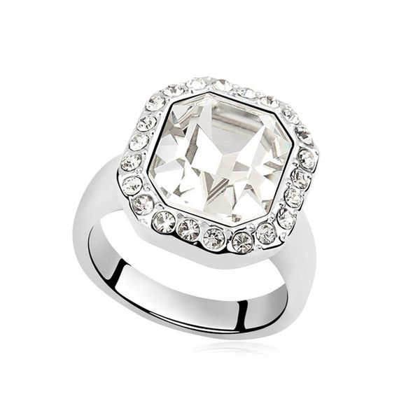 Austrian Imitated crystal Ring - Rhine River ( White ) 9218