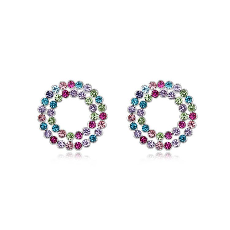 Austrian imitated crystal earrings - Iraqis suit ( Color ) 9101