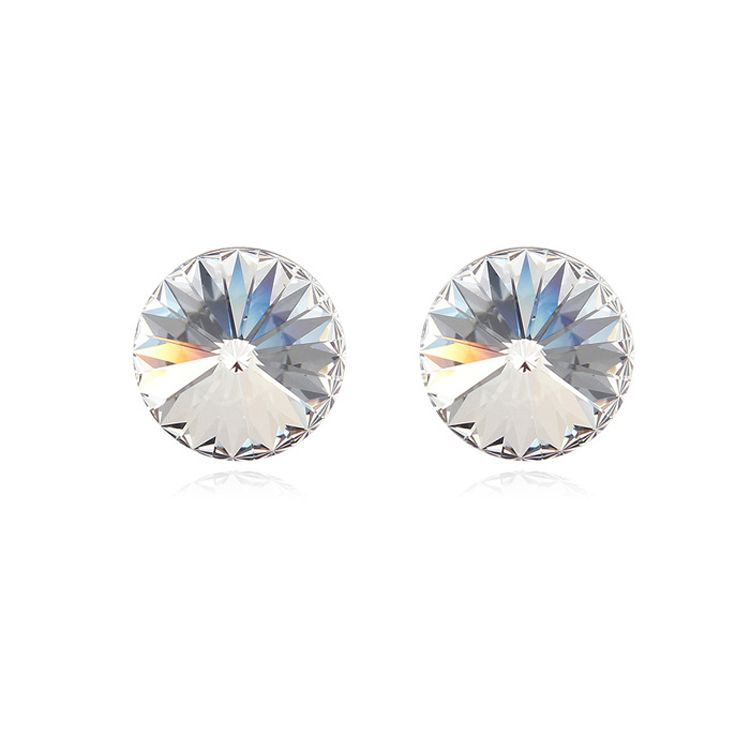 Austrian imitated crystal earrings  Starry  White  8981
