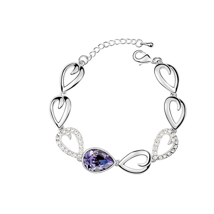 Austrian imitated crystal bracelet - Tears from the people ( Tanzanite ) 8959