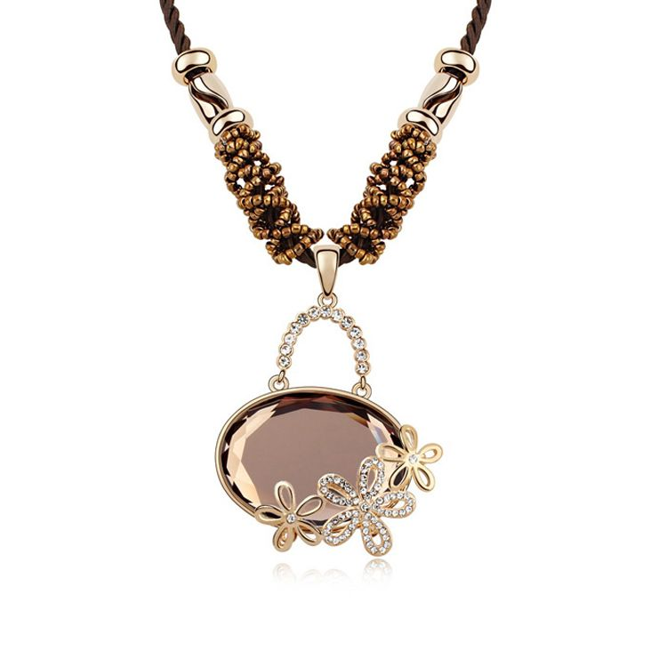 Alloy - Lime Blossom boutique sweater chain ( Coffee ) 8733